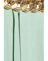 By Malene Birger | Green Chain Trimmed Pleated Crepe Gown | Lyst