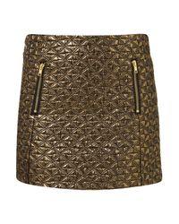 TOPSHOP | Metallic Jacquard Mini Skirt | Lyst