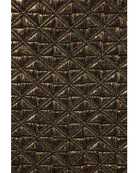 TOPSHOP | Metallic Jacquard Mini Skirt | Lyst