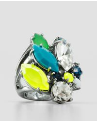 Ann Taylor | Multicolor Neon Bouquet Cocktail Ring | Lyst