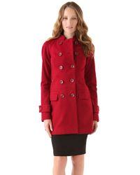 Rachel Zoe | Red Farrah Raglan Coat | Lyst