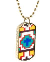 River Island - Metallic Aztek Necklace for Men - Lyst