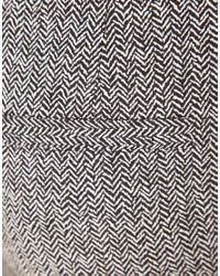 ASOS Collection | Gray Super Skinny Trousers in Herringbone Print | Lyst