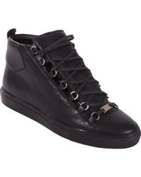 18ceb907b93e1 Balenciaga Arena High Trainers in Black for Men - Lyst