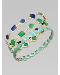 Ippolita | Blue Turquoise and 18k Yellow Gold Bracelet | Lyst