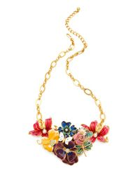 Kenneth Jay Lane - Metallic Garden Party Necklace - Lyst
