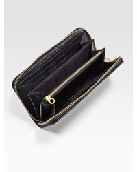 Marc By Marc Jacobs | Black Preppy Large Zip-around Leather Wallet | Lyst