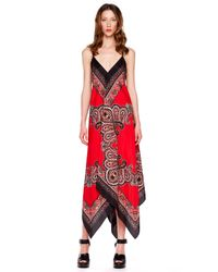 Michael Kors - Red Printed Maxi Dress - Lyst