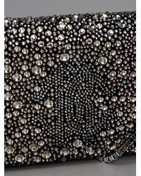 Roberto Cavalli | Black Diamanté Clutch | Lyst