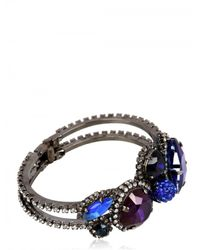 Erickson Beamon | Purple and Blue Crystal Bracelet | Lyst