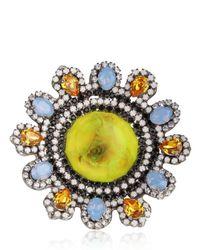 Erickson Beamon - Multicolor Time Warp Ring - Lyst