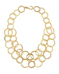 Kenneth Jay Lane - Metallic Doublechain Drop Necklace - Lyst