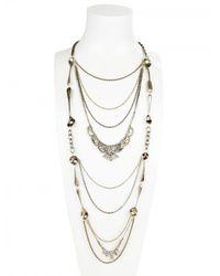Maria Zureta - Metallic Long Paste Spoon Necklace - Lyst
