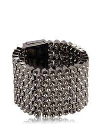Mawi | Gray Black Metal Cuff Bracelet | Lyst
