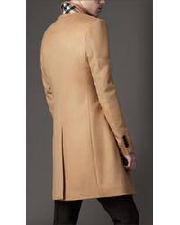 Burberry | Beige Felted Wool Topcoat for Men | Lyst
