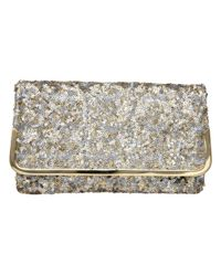 Dune | Metallic Bequin Sequin Clutch Bag | Lyst
