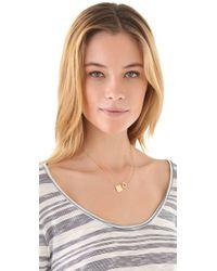 Jennifer Zeuner - Metallic Bar-pendant Necklace - Lyst