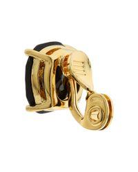 kate spade new york - Black Kate Spade Small Clip Earrings - Lyst