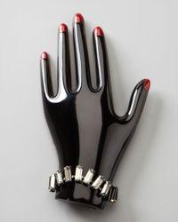 Lanvin | Black Left Hand Pin | Lyst