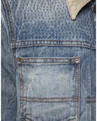 ASOS Blue Asos Denim Jacket with Contrast Collar for men