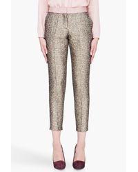 By Malene Birger - Cortensa Metallic Jacquard Pants - Lyst