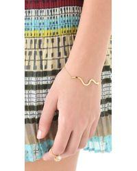 Jennifer Zeuner - Metallic Long Diamond Snake Bracelet - Lyst