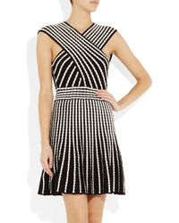 M Missoni | White Two Tone Knitted Dress | Lyst