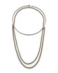 Cheap Monday | Metallic Elongate Necklace | Lyst