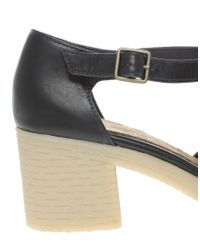ASOS | Blue Asos Sinclair Leather Heels with Tbar | Lyst