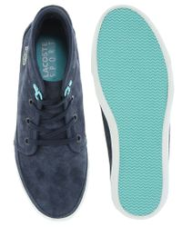 Lacoste - Blue Ziane Chukka Lace Up Boots - Lyst