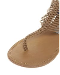 Steve Madden - Brown Seaverrs Strappy Flat Sandals - Lyst