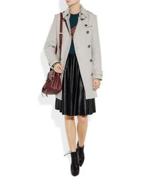 Burberry Brit | Gray Doublebreasted Woolblend Trench Coat | Lyst