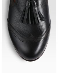 Dolce Vita | Black Bronx Patent Leather Oxford Flats | Lyst