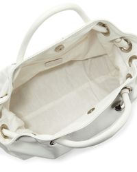 Furla - White Carmen Leather Shopper Bag - Lyst
