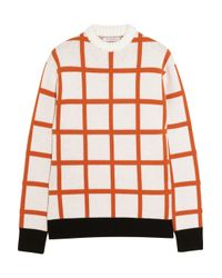 J.W.Anderson | Natural Checked Intarsia Wool Sweater | Lyst