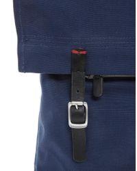 Ben Sherman Blue Ben Sherman Plectrum Canvas Backpack for men