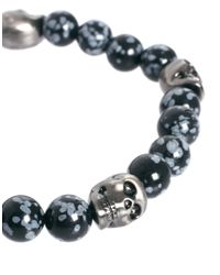 Simon Carter - Metallic Beaded Skull Bracelet  for Men - Lyst