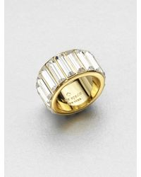 kate spade new york | Metallic Stone Encrusted Ring | Lyst