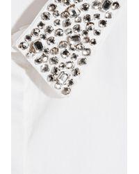 Maje | White Sibel Crystalembellished Cotton Shirt | Lyst