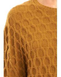 Alexander Wang | Brown Large Embossed Long Sleeve Crewneck Sweater | Lyst