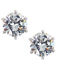 CZ by Kenneth Jay Lane | Multicolor Round Cubic Zirconia Stud Earrings  | Lyst
