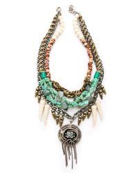 DANNIJO - Blue Fielding Necklace - Lyst