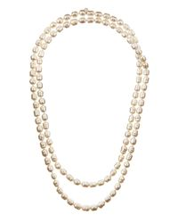 Majorica - Metallic Endless Baroque Pearl Necklace - Lyst