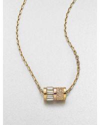 Michael Kors | Metallic Barrel Pendant Necklace | Lyst