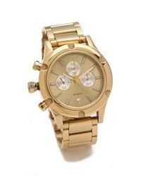 Nixon | Gold The Camden Chrono Watch | Lyst