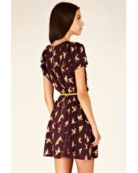 Oasis - Multicolor Country Bird Skater Dress - Lyst