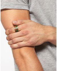 ASOS | Green Aztec Wooden Ring for Men | Lyst