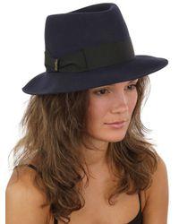 Borsalino - Blue Hare Felt Hat - Lyst