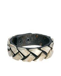 DIESEL | Metallic Abunto Bracelet for Men | Lyst