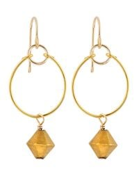 Gorjana - Metallic Prism Bead Hoop Earrings - Lyst